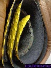 Wearwell Diamond Plate Antifatigue Mat 2' x 6' Black & Yellow