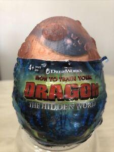 How To Train Your Dragon Hidden World Orange Egg Blue Gronckle Plush NEW