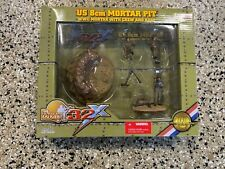 Ultimate Soldier 32x WWII US 8cm Mortar Pit 3 Man Crew 1/32 Scale