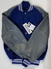 DeLong Letterman's Jacket, Royal/Graphite, Medium ($190 Retail)