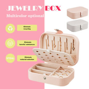 Jewelry Boxes Organizer Portable Travel Leather Jewellery Ornaments Case Storage