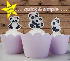 #408. Baby Boy/Girl Panda Cupcake Cake Toppers Birthday Baby Shower Hens Night