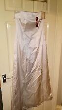 BNWT Womens Monsoon Long Silk Strapless Ivory Dress. Size 12.