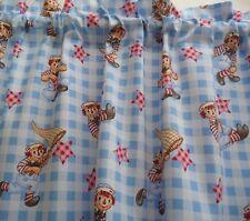 1.57m  x 48cm Valance Curtain Baby Nursery Children Cottage Caravan Raggedy Andy