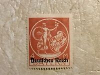 RARE 1920 Germany 4 Mark Bavarian stamp with overprint type UNC  Lot