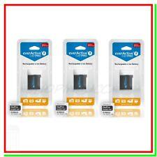 3 Batterie GoPro Hero 4 Pile Ricaricabili 3,7v 1160mah Action Cam AHDBT-401