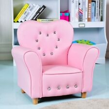 Bedroom Girls Cute Pink Sofa Armrest Chair Multi-Functional Couch Furniture