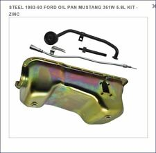 1983-1993 FORD MUSTANG 351W 5.8L ENGINE OIL PAN, PICKUP, DIPSTICK TUBE ZINC