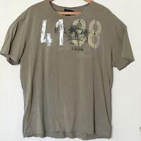 Polo Ralph Lauren Camo Green 4138 Moose Men's Short Sleeve T-Shirt Size L 💥RARE