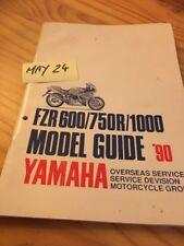 Yamaha FZR600 FZR750R FZR1000 1990 guide modèle model en anglais