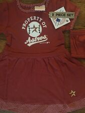 NWT Houston Astros Girls 2 Piece Toddler Jersey Dress 4T