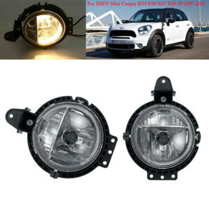 Fog Light For BMW Mini Cooper R55 R56 R57 R58 59 07-2015 Driving Bumper Lamp L R