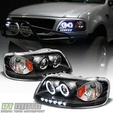 Blk 1997 2003 Ford F150 97 02 Expedition Led Halo Projector Headlights Headlamps Fits 2000 F 150
