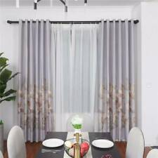 Garden Fallen Leaves Print Blackout Curtains Window Bedroom  Drapes Decor SK