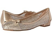 Nina Wynne Women's Glam Dress Flat Shoes in Taupe, 8.5M