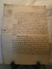 Acte notarié généralité 1852 vente de terres labourables Neuves Maison Lorraine