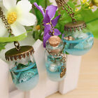 Mermaid Ocean Sea Bottle Glass Star Shells Vial Fashion Necklace Tears Pendant