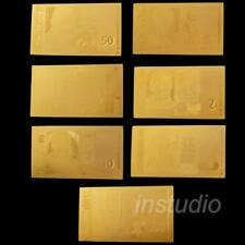 7pcs Bulgarian Gold Foil Commemorative Gift Fashion Pop New
