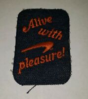 Vintage Patch Embroidered Alive With Pleasure Newport Cigarettes Denim Ad
