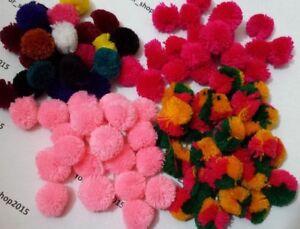 POM POMS Mini Craft Mix Colours 20mm Arts & Craft Making or Garment UK SELLER
