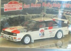1/43 Audi Quattro  Winners Rally Italy Sanremo 1981 #14 M.Mouton / F.Pons