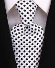Scott Allan Men's Black  White Checkered Necktie