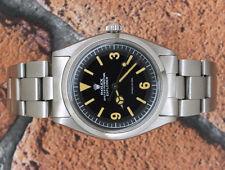 Classico Quadrante Nero Gents Acciaio Inox Rolex Oyster Perpetual Explorer 5500