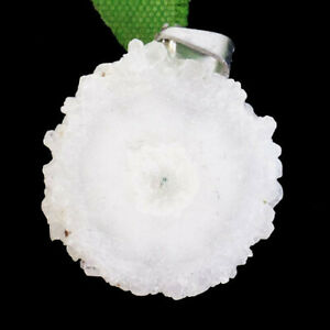 White Titanium Crystal Agate Druzy Quartz Geode Freeform Pendant Bead M46692