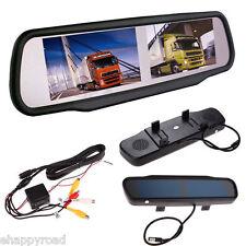 "4.3"" Dual Screen 4CH HD Digital TFT LCD Car Mirror Monitor for rear view Camera"