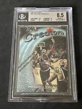 1997-98 Topps Finest w/coating Michael Jordan silver #287 BGS 8.5