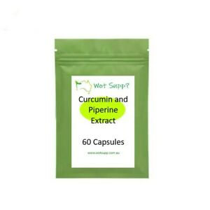 Curcumin and Piperine Extract 60 x 500mg Capsules  FREE POSTAGE Oz Store