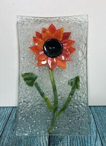 Sunflower Glass Trinket Dish Rectangle