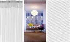 2 set Ikea Lill Sheer Curtains 4 Panels 98 X 110 (2 Curtain Pairs, White)