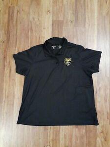 JACKSONVILLE JAGUARS Black Polo Short Sleeve GolfShirt Women XXL, Antigua, NFL