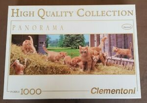 JIGSAW Animals Clementoni 1000 Piece Puzzle GINGER CAT FAMILY Checked COMPLETE