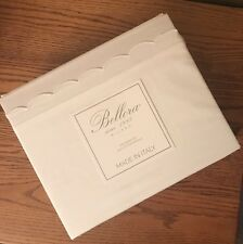 Bellora King ITALY SHEET SET WHITE Linen Cotton Percale Italian 1883 Milano