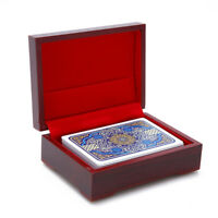 1pc Playing Card Holders Poker Wooden Box Commemorative Coins Box  X