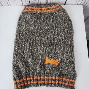 Top Paw Dog Sweater Size Medium Knit Gray