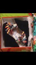 Paire De Chaussures Edition Limitées Femme Semelles Compensées Noir Colorées 37
