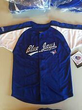 Toronto Blue Jays NEW Stitches Youth Blue Button-Up Jersey Small 4. MLB
