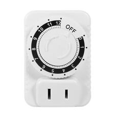 220V 12Hr ABS Mechanical Countdown Timer Socket Outlet Wall Plug Switch Knob DY