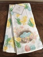 Baby Chicks Eggs Easter Kitchen Towels Set Spring Garden Bunny New