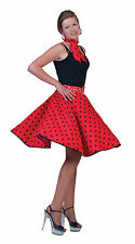 Bristol Novelty AC049B Rock N Roll Skirt Red Size 10 - 14
