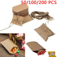 50/100/200 pcs Pillow Party Favor Box  Wedding Party Favour Gift Candy Boxes