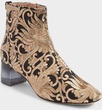 Tory Burch Carlotta Black/Gold Nayan Brocade Embroidered Bootie Sz 7 NWB $528