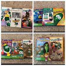 Lot of 12 Big Idea VeggieTales VHS Tapes Videos Christian Silly Songs Larry Boy