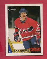 (1) CANADIENS # 48 BOB SMITH  1987-88 O-PEE-CHEE   NRMT CARD