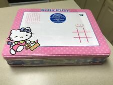 Hello Kitty Child's Dry Erase Tin Activity Carry- All / Lunch Box Travel Games