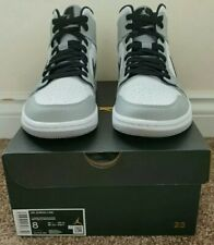 Nike Air Jordan Retro 1 Mid Light Smoke Grey Black White 554724-092 Size US 8