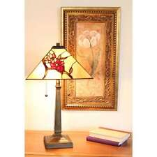 "Tiffany-style Floral Mission Table Lamp 14"" Shade"